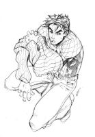 holiday sketch 1 - spidey by deemonproductions