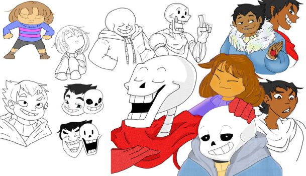 Undertale Dump 1 by XJoiFoxX