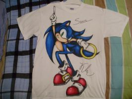 Sonic Shirt I Painted by SonicBornAgain