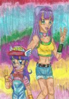 Arisa and Arale: 'Related?' by YamchaFan91