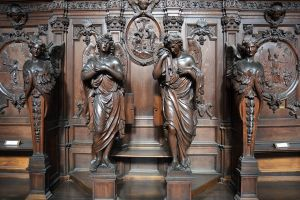 Wooden statues by FrankAndCarySTOCK