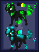 Neon wolves adobtable 2 [CLOSED] by xLilacNiallDoex