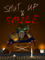Stitches Shut Up and Smile by THEATOMBOMB035