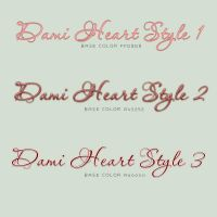 Valentine Font Styles by damilepidus
