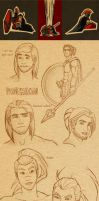 Pantheon Yasuo Sketch Dump by Black--Moth