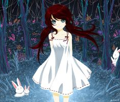 Red and Bunnies by Selene-Galadriel
