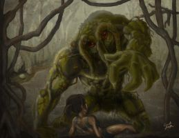 Man Thing digital Painting by Grant-Leon-Smith
