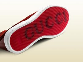 Red Leather interlocking Gucci hi-top sneaker by MarcusMcCloud100