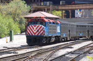 Metra F40C 614 to the Yard by JamesT4