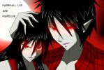 Marshall lee and Marceline from Adventure Time! xD by chump091