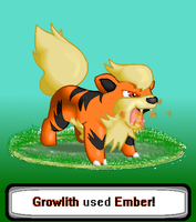 Growlithe used Ember! by ZapdosRockz