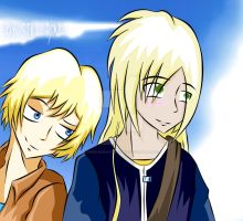 In the  college with a classmate- Two Angels by LowRankRaccoon969