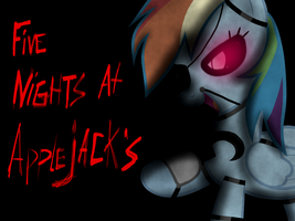 Five nights at Applejack's - Foxy Dash poster by Pinkie-pinktasic-Pie