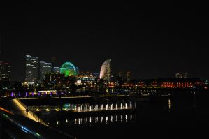 Night in Yokohama by Otone