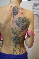 back roses by SimplyTattoo