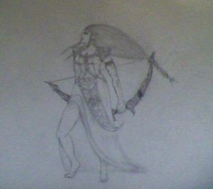 Princess Zelda as Goddess Artemis: Rough Outline