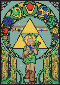 Ocarina of Time, Art Nouveau by ThirdhandHarpy