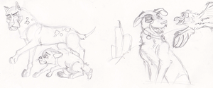 Vintage 'Stray Animal MMO' concept art by Some-Art