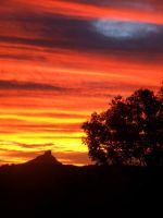 Mt Warning Sunset by funksoulmamma