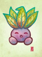 Sleeping Oddish by Cameron-Brideoake