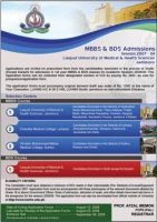 LUMHS Admission ad by Naasim