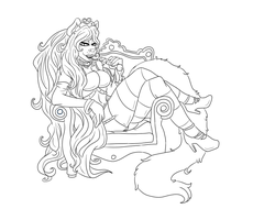 WIP: Queen of Cat by Homosorcerer