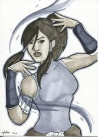 Sketch Card - Korra by Indy-Lytle