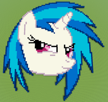 Minecraft Vinyl Scratch Pixel Art by WizE-KevN