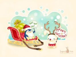 Santa Penguin by IngridTan