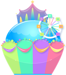 Funfair Cupcake by shiropanda