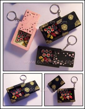 Sushi bento Keychains by Gimmeswords
