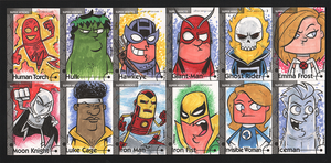 2013 Marvel Fleer Retro sketch cards 013-024 by thecheckeredman