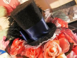 Midnight Lolita Top Hat by Kitty-Sprinkles