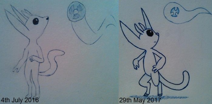Drawing Comparison: Ori and Sein by DragonMage156