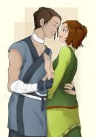 Sokka and Suki by PearFlower