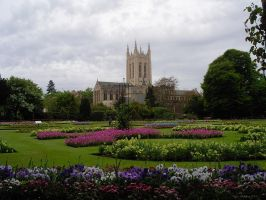 Abbey Garden View by In-the-picture