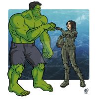 Kira and Hulk by AngieSG