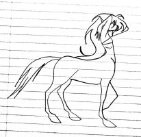 Young Centaur Girl (Unfinished) by Jakegothicsnake