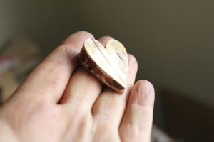 Copper and Brass Heart Box by connerchristopher