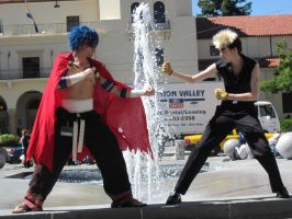 Kamina vs. Kittan by TheSapphireDragon1