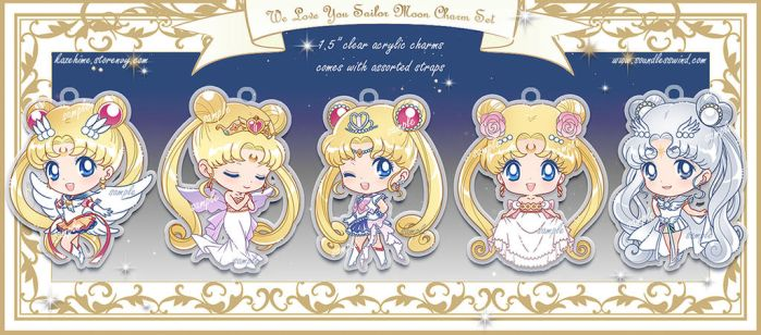 Sailor Moon Charm Set by Kaze-Hime