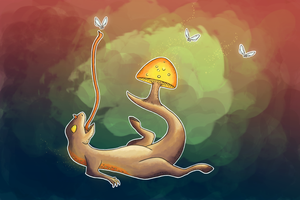 Shroom Dragon by Happyhedgehog