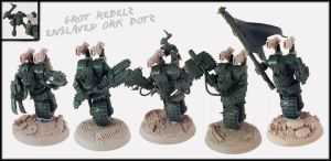 Ork Botz Squad (Nob Bikers) UP by Proiteus