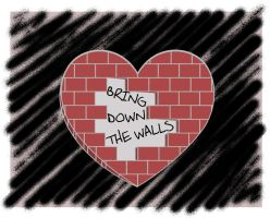 bring down the walls around your heart by Klutzillia