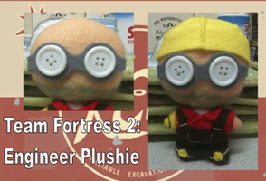 Team Fortress 2: Engineer Plushie by Jack-O-AllTrades
