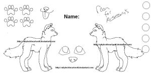 free wolf reference sheet 2011 by Rubylockheartwolf