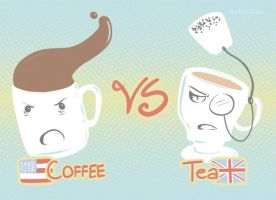 Coffee Vs Tea by RaelynnMarie
