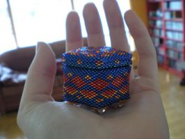 Blue Beaded Box by Nehemet