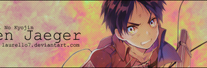 Eren jaeger From SNK Signature Banner By Laurello by Laurello7