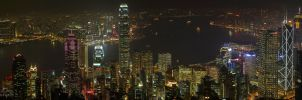 Hong Kong at Night by RHCheng